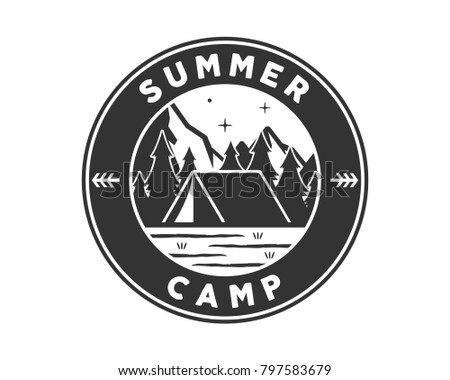 Vintage Camping Badges - Download Free Vectors, Clipart