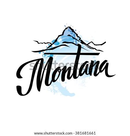 vintage montana usa state