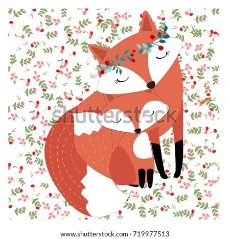 vintage mother mom fox love