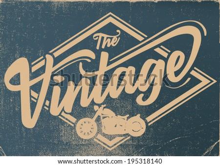 vintage motor label