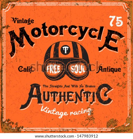 vintage motorbike race   hand