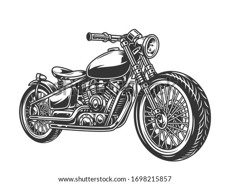 vintage motorcycle concept in