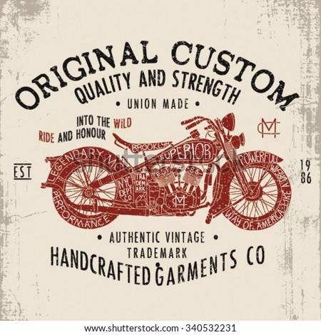vintage motorcycle design for