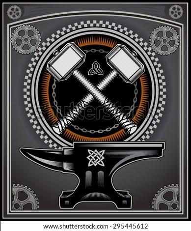vintage motorcycle label thors