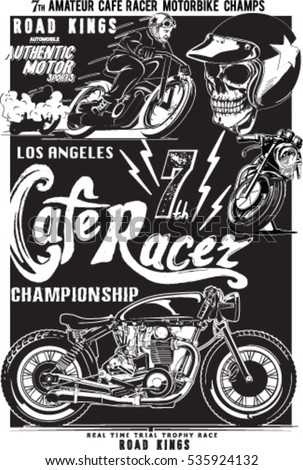 vintage motorcycle skull rider