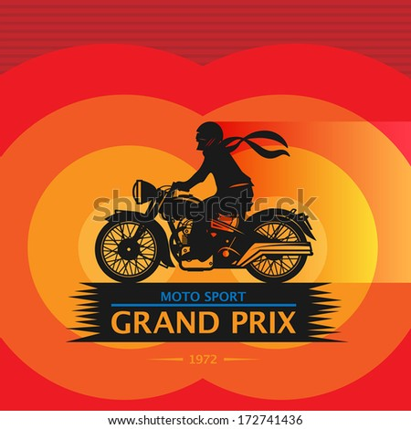 vintage motorcycle sport label