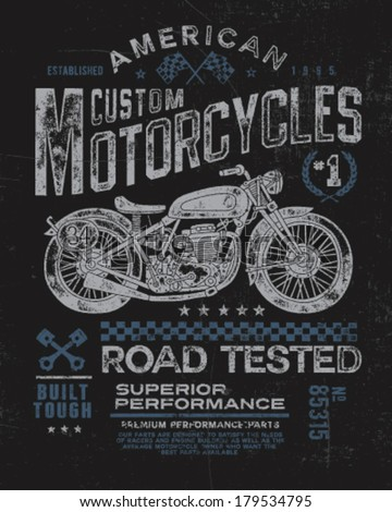 vintage motorcycle t shirt...