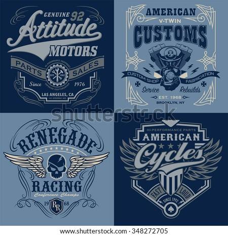 vintage motorsport emblem