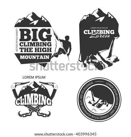vintage mountain climbing