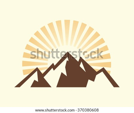 vintage mountains vector...