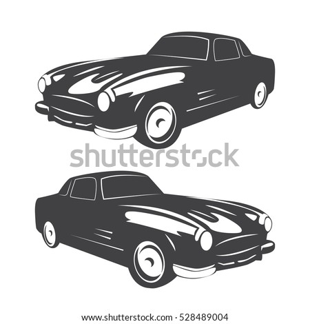 vintage muscle car vector