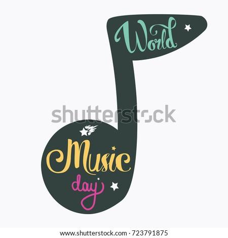 vintage musical lettering for