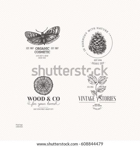 vintage nature logo collection