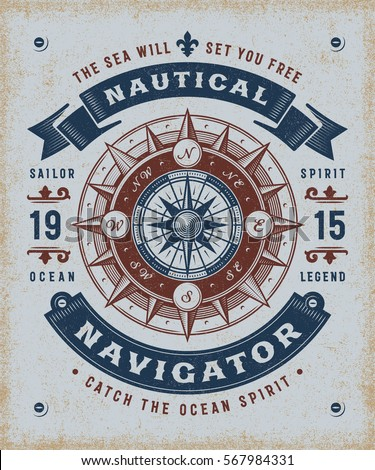 vintage nautical navigator...