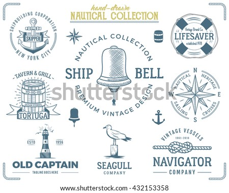 vintage nautical stamps set....