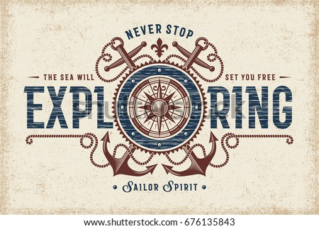 stock-vector-vintage-never-stop-exploring-typography-t-shirt-and-label-graphics-with-compass-rose-and-anchors