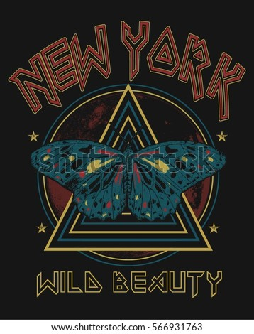 vintage new york butterfly rock ...