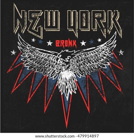 vintage new york eagle graphic...