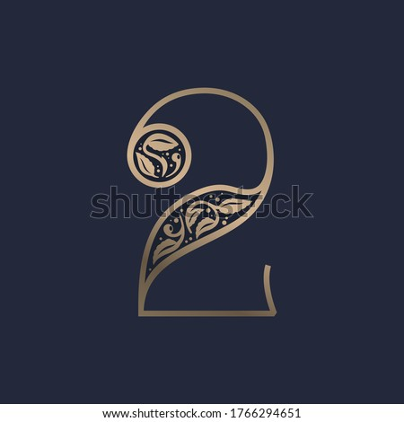 vintage number two logo with