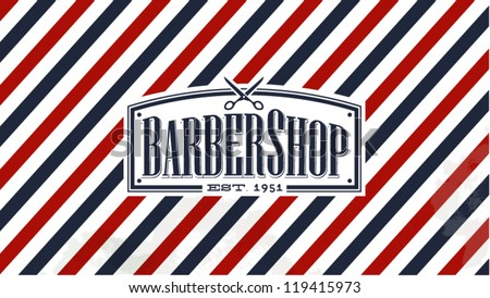 Vintage Old Fashion styled Barber Shop background