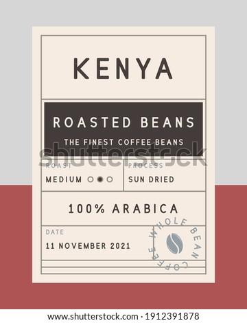 Vintage old label template. Coffee vintage packaging design. label, tag, sticker design for packaging. Roasted beans label. Vector illustration