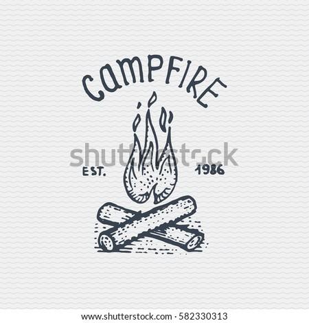 vintage old logo or badge ...