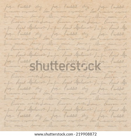 Vintage old paper texture with handwriting letter with poems background scrapbooking victorian style page hand drawn vector illustration