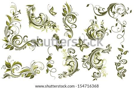 stock-vector-vintage-olive-design-elements
