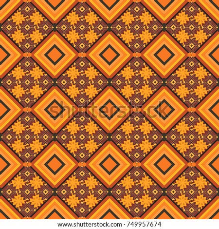 stock-vector-vintage-orange-brown-and-black-backgrounds-with-geometric-and-simple-floral-elements-vector