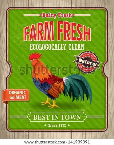 vintage organic farm fresh...