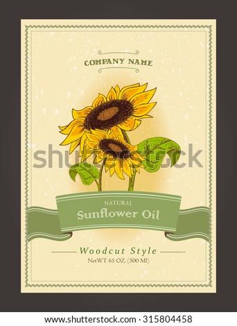 vintage organic labels for