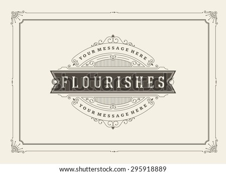 Free borders and vector flourishes download free vector art stock vintage ornament greeting card vector template retro wedding invitations advertising or other design and stopboris Image collections