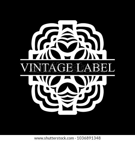 vintage ornamental retro label template for design vector illustration
