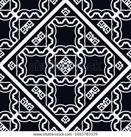 Vintage ornamental seamless pattern. Art deco ornament. Template for design #1065783539