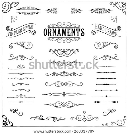 stock-vector-vintage-ornaments-collection-of-hand-drawn-vintage-ornaments