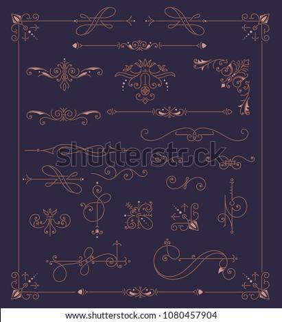 Vintage Ornaments Decorations Design Elements