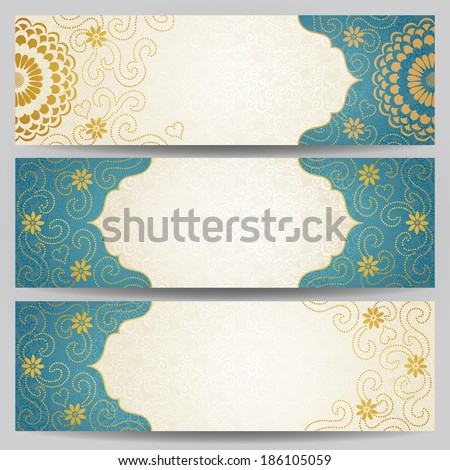 vintage ornate cards with