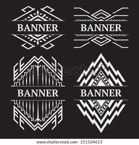 Vintage ornate frame banner design vector