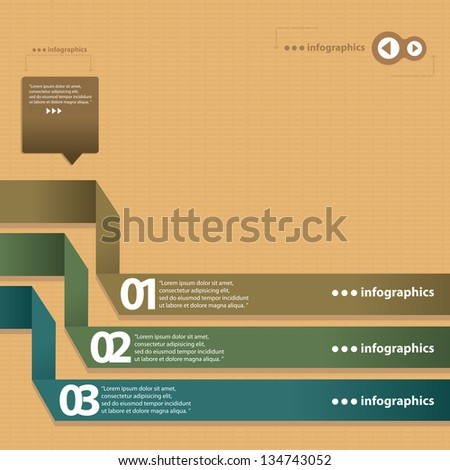 Vintage Paper Design Template Can Be Used For Infographics – Paper Design Template