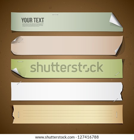 Vintage paper Long collections design, vector illustration
