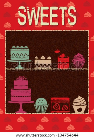 Vintage pastry related poster 4