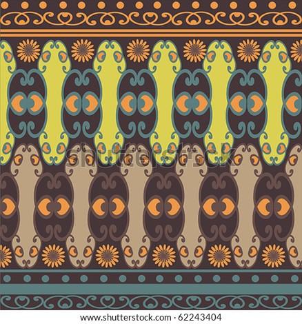 Vintage Pattern for fabric design or wallpaper