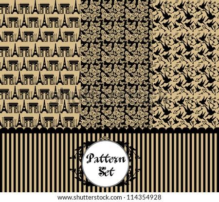 vintage pattern set. vector illustration