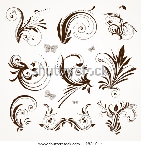Stock Vector on Vintage Patterns For Design  Stock Vector 14861014   Shutterstock