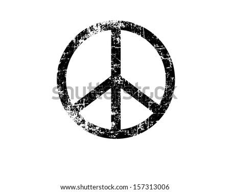 Vintage peace sign