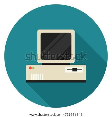 vintage personal computer icon