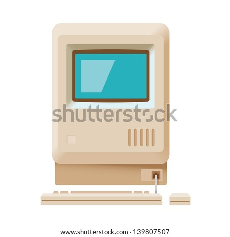 vintage personal computer with