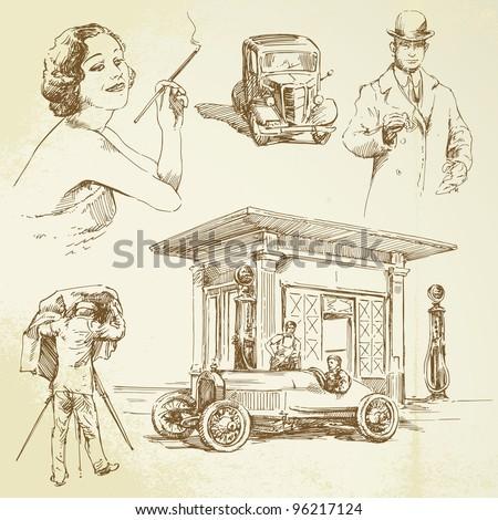 vintage petrol station   hand