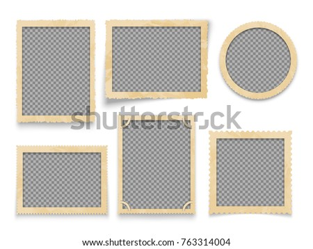 vintage photo frames isolated....