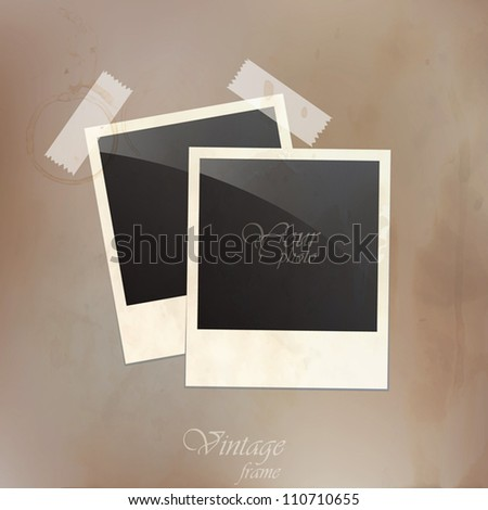 Vintage photo frames. Vector